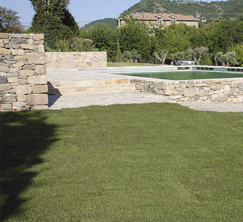 Installation gazon en Drôme