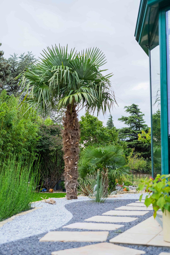 Jardin minimaliste à Montélimar